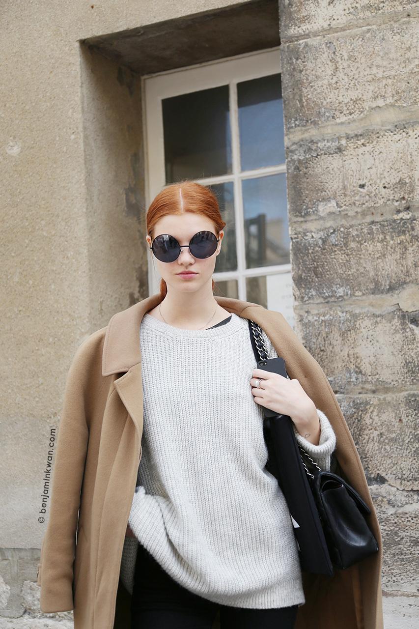 Anastasia Ivanova at Ann Demeulemeester SS 2015 Paris Snapped by Benjamin Kwan Paris Fashion Week