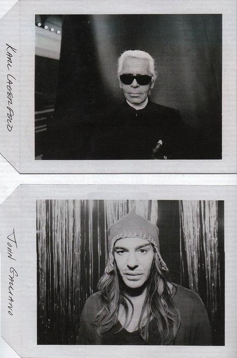 Karl Lagerfeld + John Galliano = Fashion Geniuses
