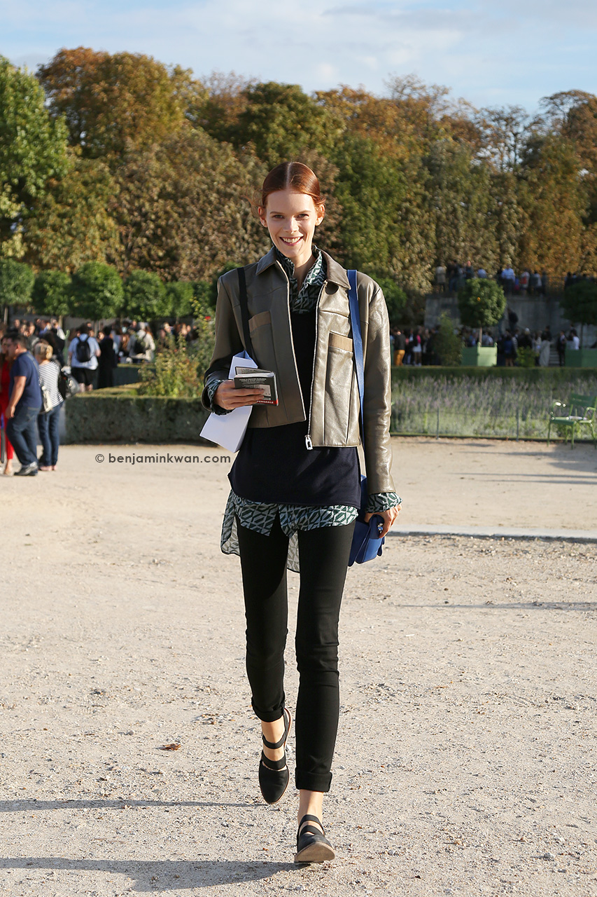 Irina Kravechenko at Nina Ricci SS 2015 Paris Snapped by Benjamin Kwan Paris Fashion Week