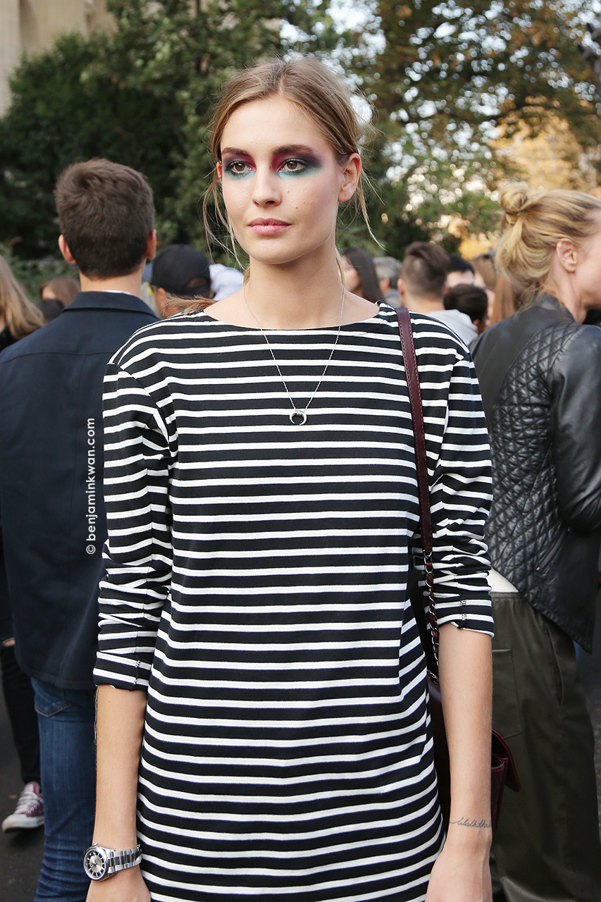 Nadja Bender at Chanel SS 2015 Paris Snapped by Benjamin Kwan     Paris Fashion Week