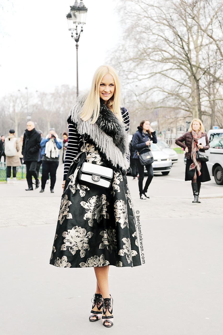 Nina Victoria Suess at Chanel FW 2014 Paris Snapped by Benjamin Kwan Paris Fashion Week