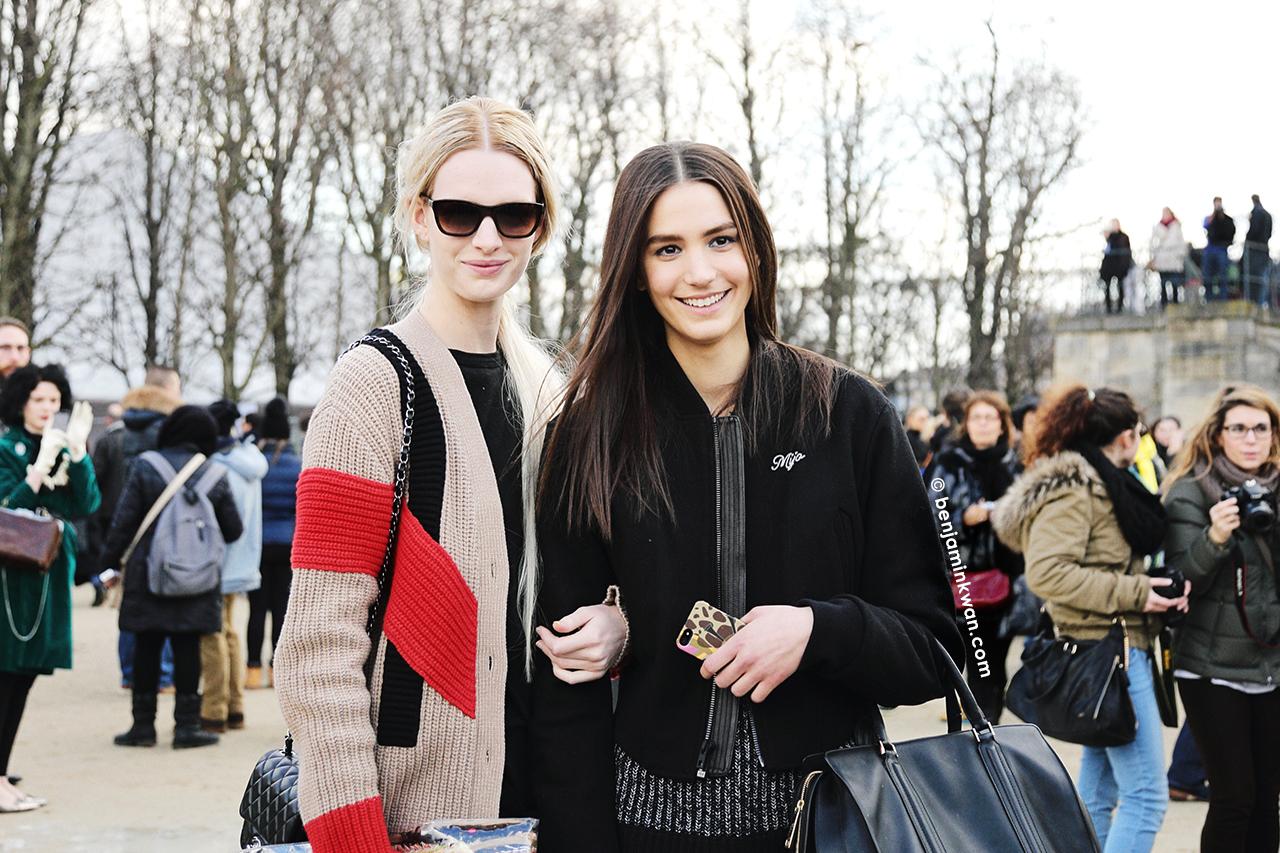 Ashleigh Good and Mijo Mihaljcic at Valentino FW 2014 Paris Snapped by Benjamin Kwan     Paris Fashion Week