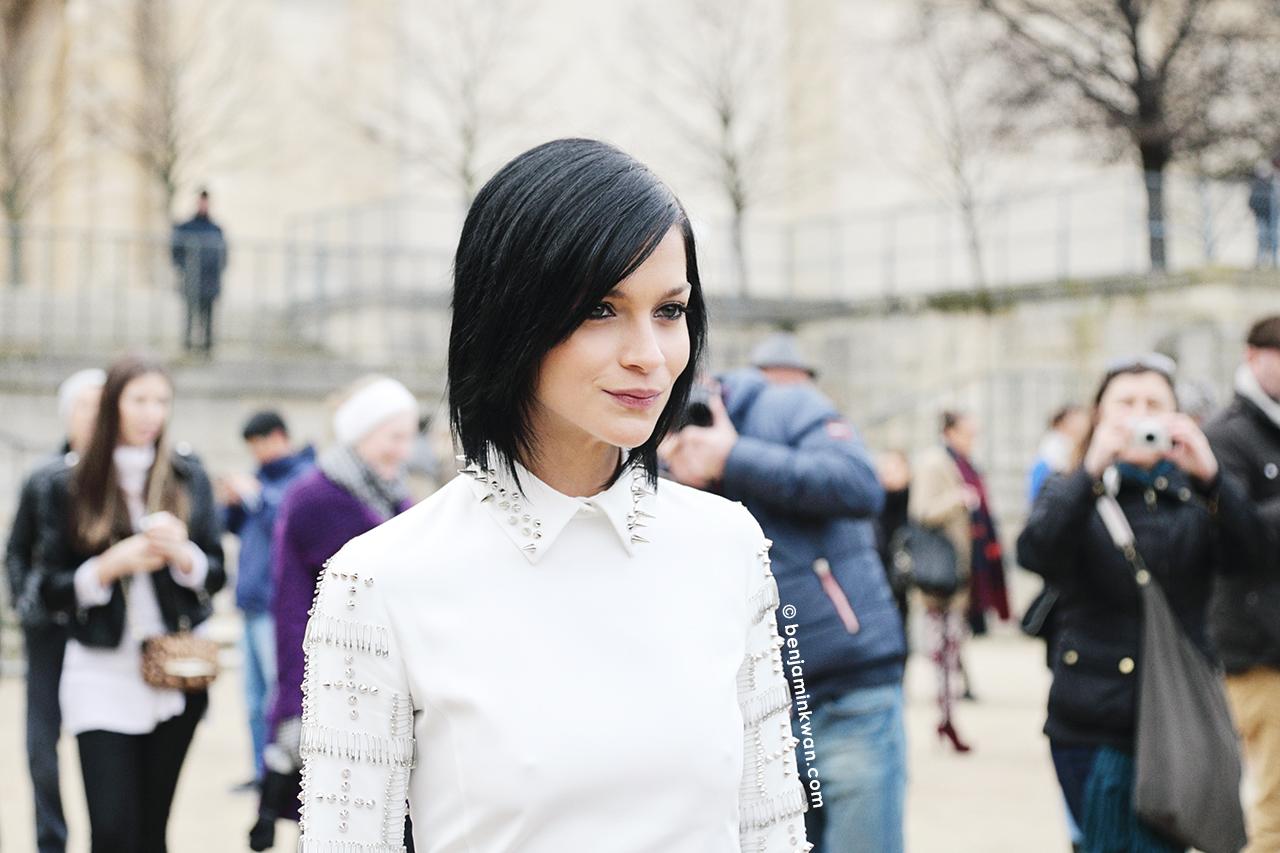 Leigh Lezark at Viktor & Rolf at     FW 2014 Paris Snapped by Benjamin Kwan Paris Fashion Week