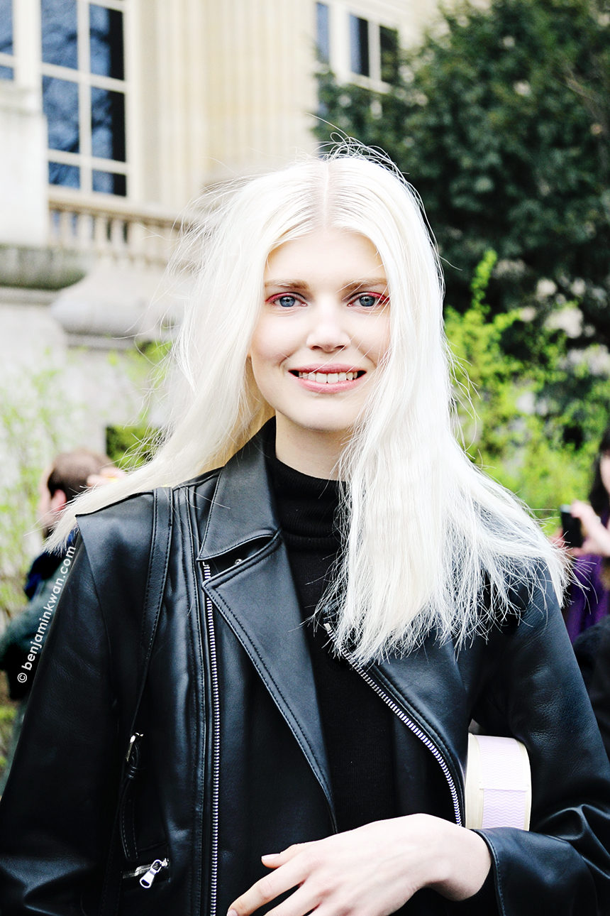 Ola Rudnicka at Chanel FW 2014 Paris Snapped by Benjamin Kwan     Paris Fashion Week