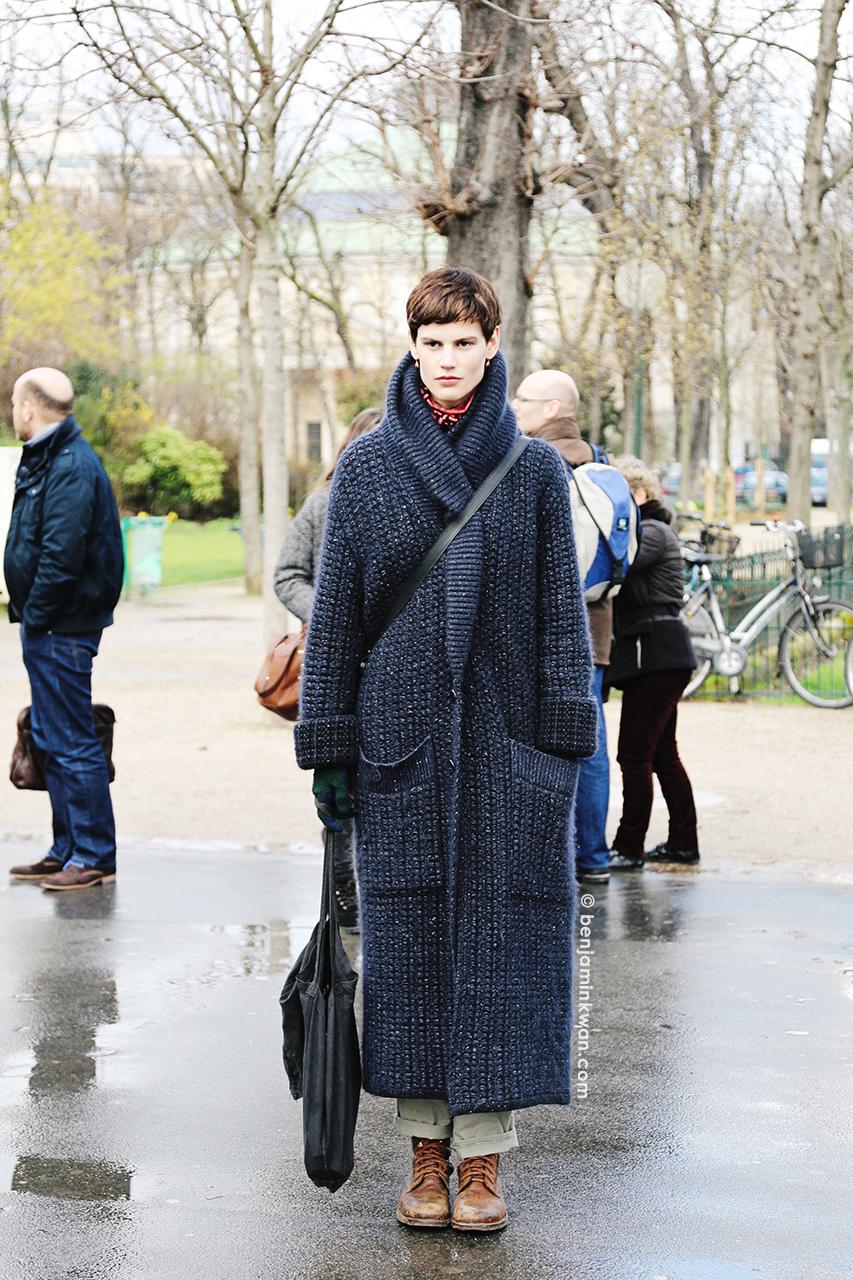 Saskia de Brauw at Chanel FW 2014 Paris Snapped by Benjamin Kwan     Paris Fashion Week