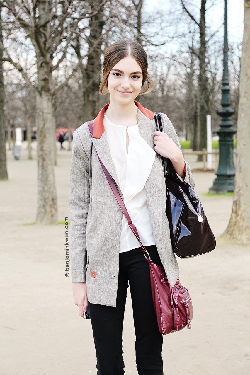 Scarlett Gray at Valentino FW 2014 Paris Snapped by Benjamin Kwan Paris Fashion Week