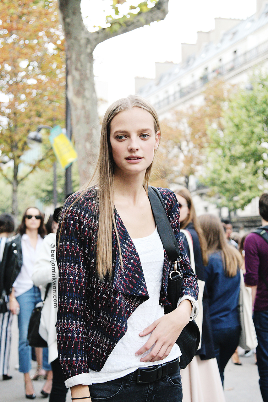 Ine Neefs at Chloe SS 2014 Paris Snapped by Benjamin Kwan Paris Fashion Week