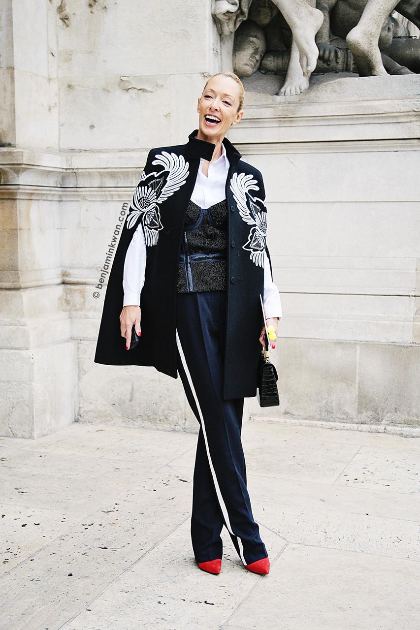 Elina Halimi at Stella McCartney SS 2014 Paris Snapped by Benjamin Kwan     Paris Fashion Week