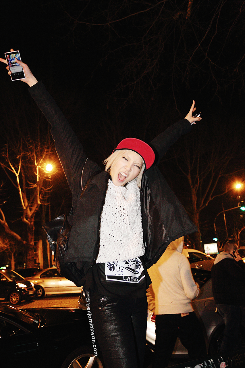 Soo Joo Park at Jean Paul Gaultier FW 2014 Paris Snapped by Benjamin Kwan Paris Fashion Week