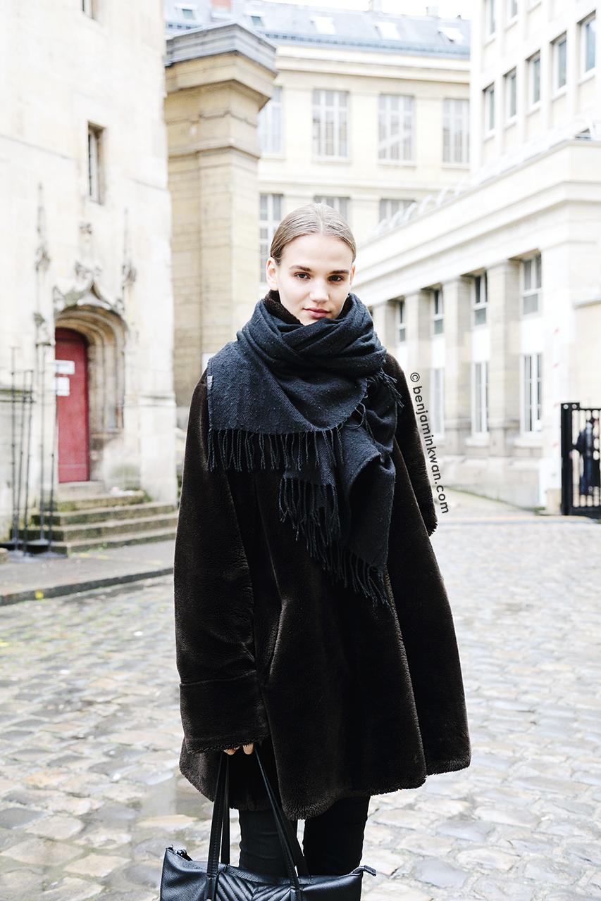 Ona Marija at Ann Demeulemeester     FW 2014 Paris Snapped by Benjamin Kwan     Paris Fashion Week