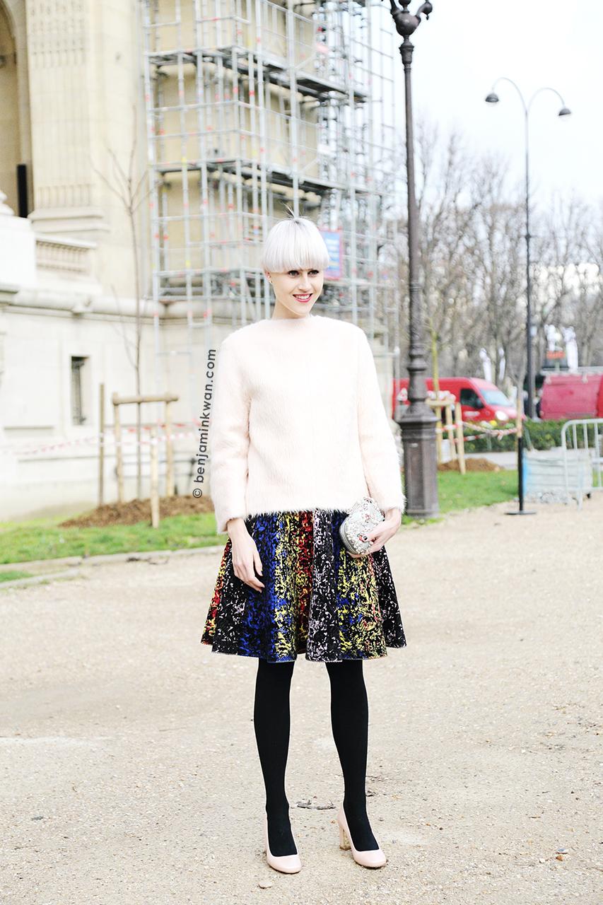 Linda Tol at Chanel FW 2014 Paris Snapped by Benjamin Kwan Paris Fashion Week