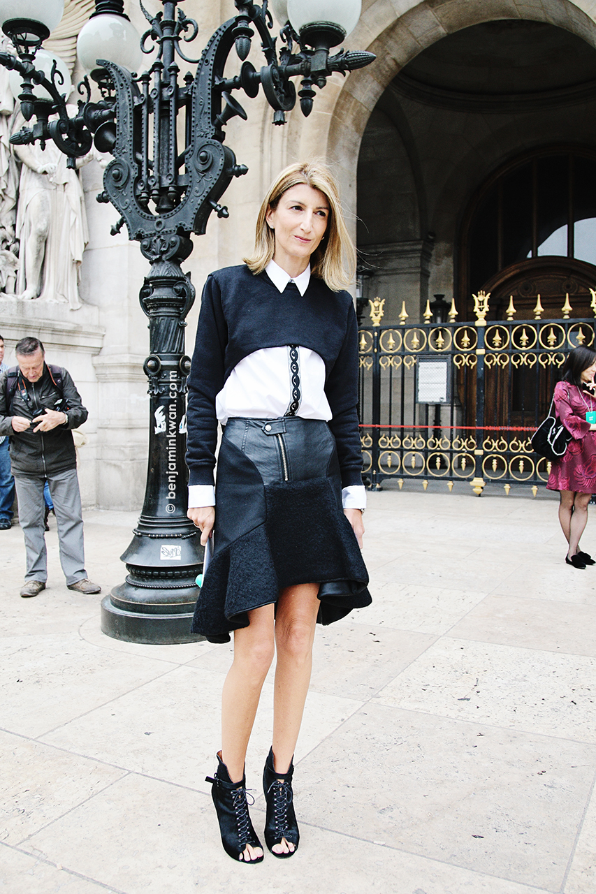 Sarah Rutson at Stella McCartney SS 2014 Paris Snapped by Benjamin Kwan Paris Fashion Week