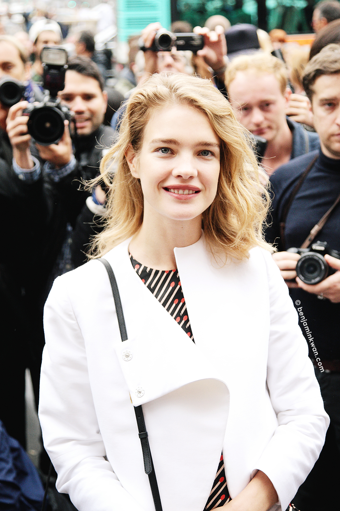 Natalia Vodianova at Stella McCartney SS 2014 Paris Snapped by Benjamin Kwan     Paris Fashion Week