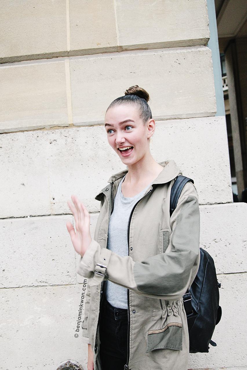 Marije Kea at Comme des Garcon SS 2014 Paris Snapped by Benjamin Kwan     Paris Fashion Week