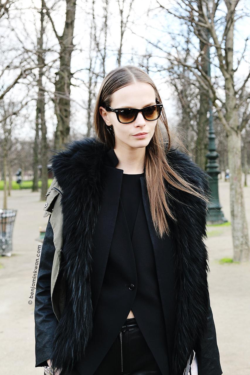 Mina Cvetkovic at Valentino FW 2014 Paris Snapped by Benjamin Kwan     Paris Fashion Week