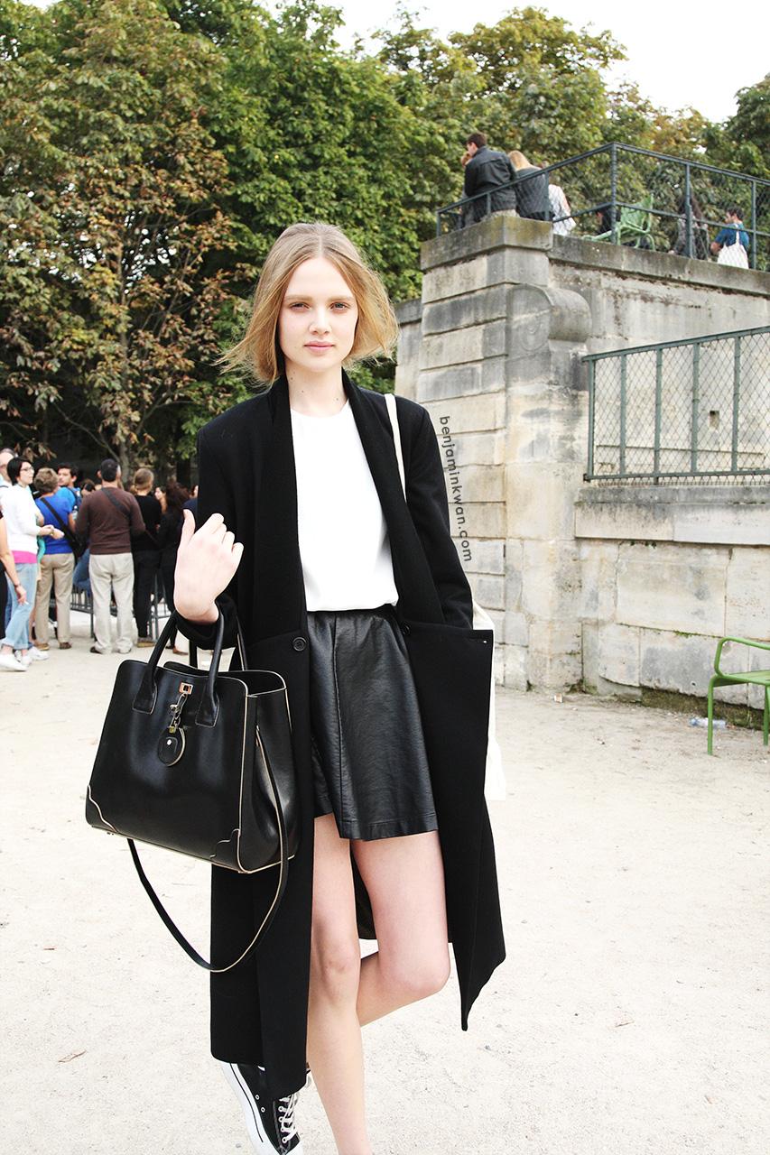 Holly Rose Emery at at Nina Ricci SS 2014    Paris Snapped by Benjamin Kwan     Paris Fashion Week