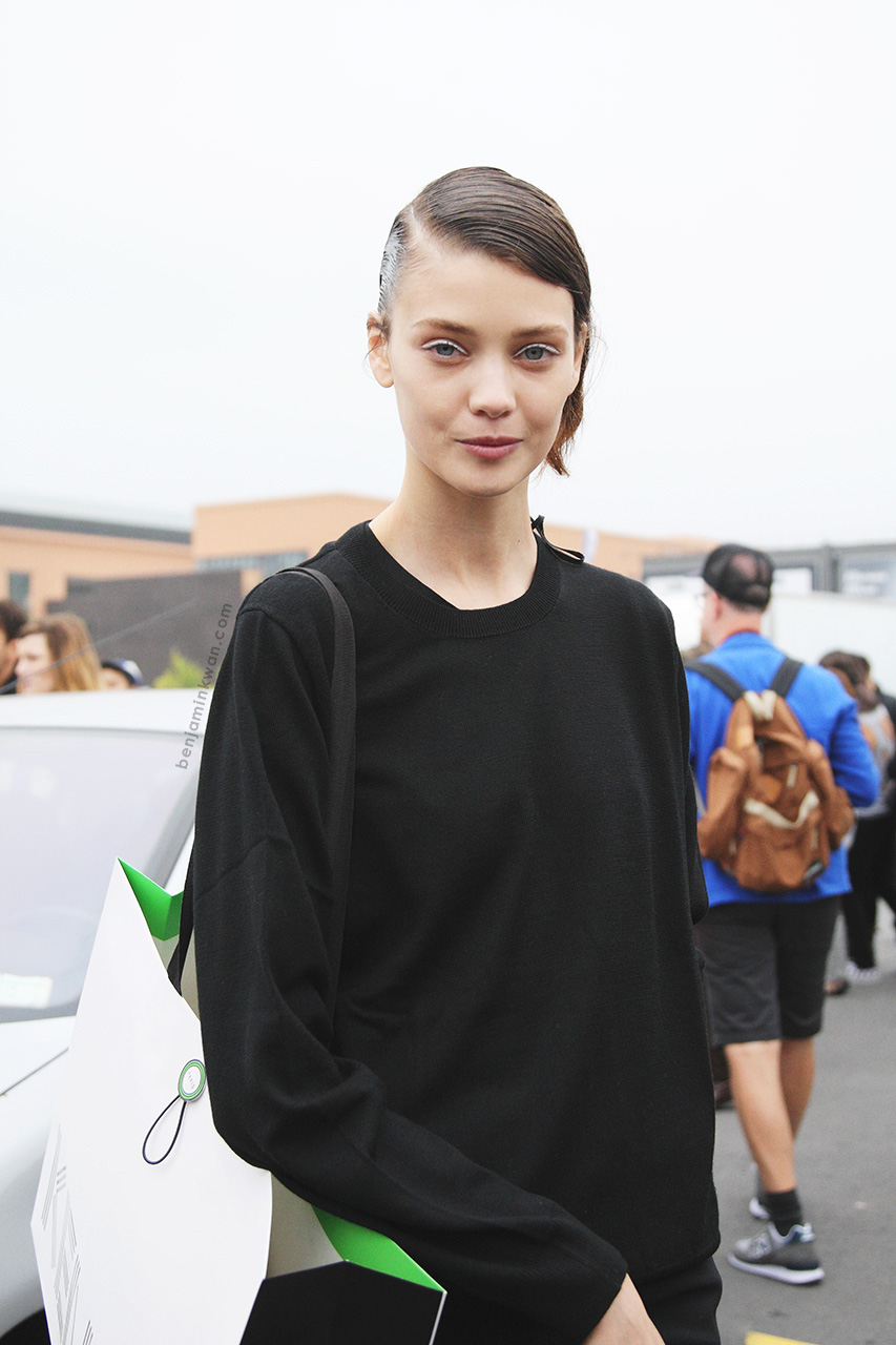 Diana Moldovan at Kenzo SS 2014     Paris Snapped by Benjamin Kwan     Paris Fashion Week