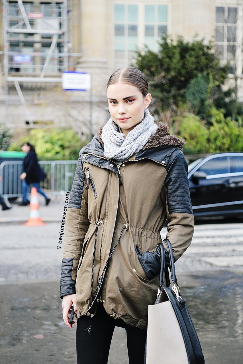 Daria Piot at Chanel FW 2014 Paris Snapped by Benjamin Kwan Paris Fashion Week