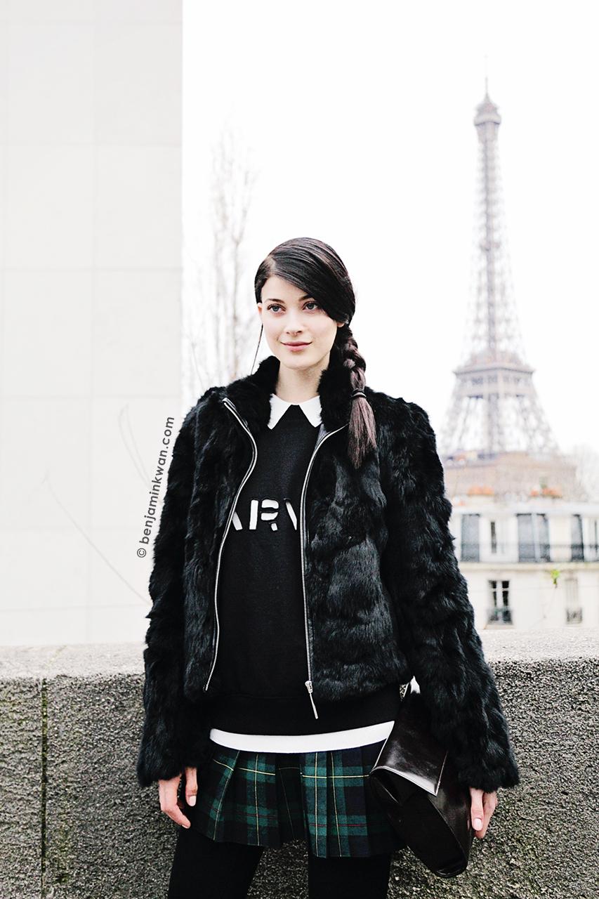 Larissa Hofmann at John Galliano FW 2014 Paris Snapped by Benjamin Kwan Paris Fashion Week