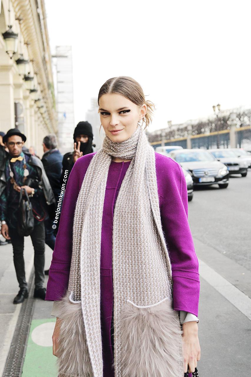 Yulia Leontieva at Junko Shimada     FW 2014 Paris Snapped by Benjamin Kwan Paris Fashion Week