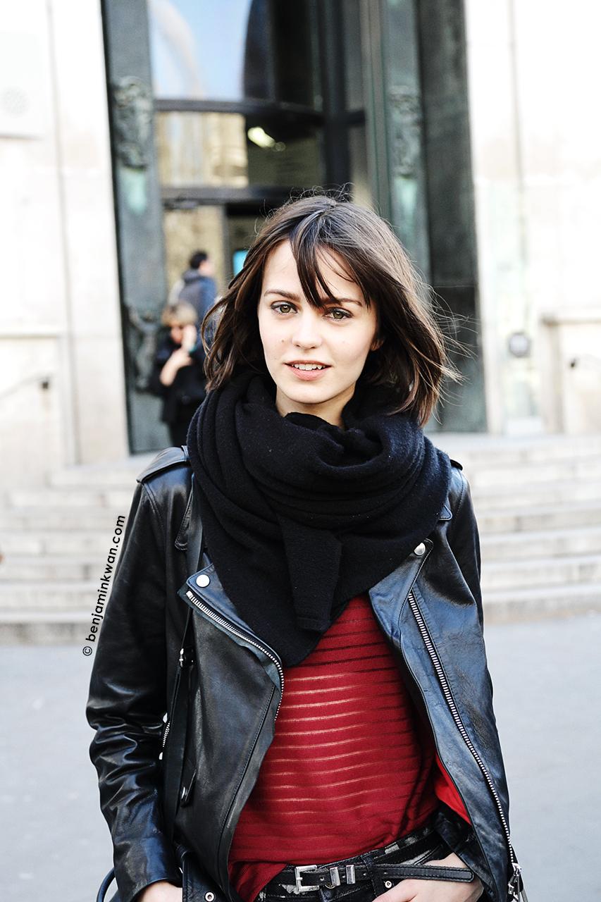 Marta Dyks at Zadig & Voltaire FW 2014 Paris Snapped by Benjamin Kwan Paris Fashion Week