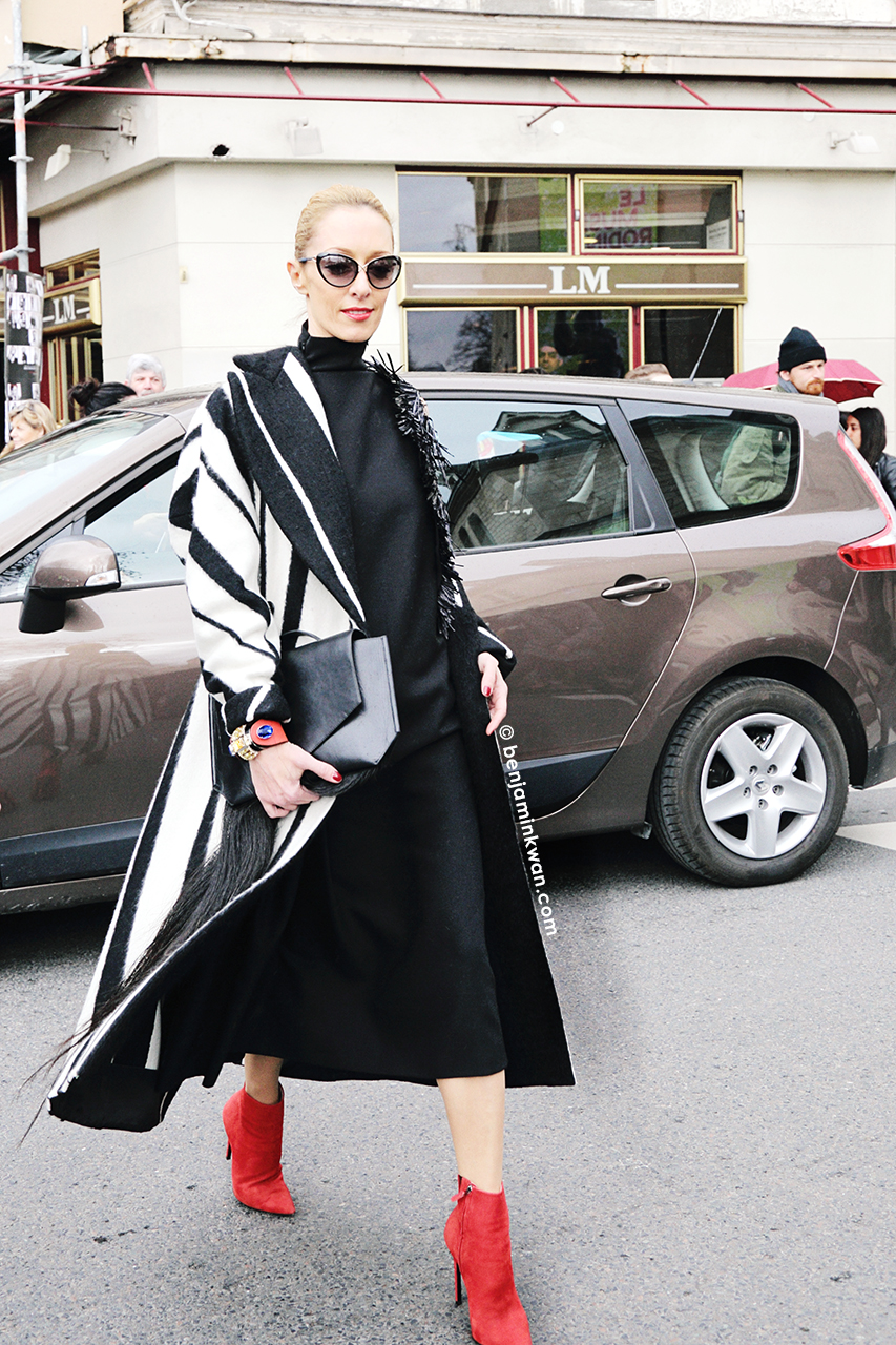 Elina Halimi at Dior     FW 2014 Paris Snapped by Benjamin Kwan Paris Fashion Week
