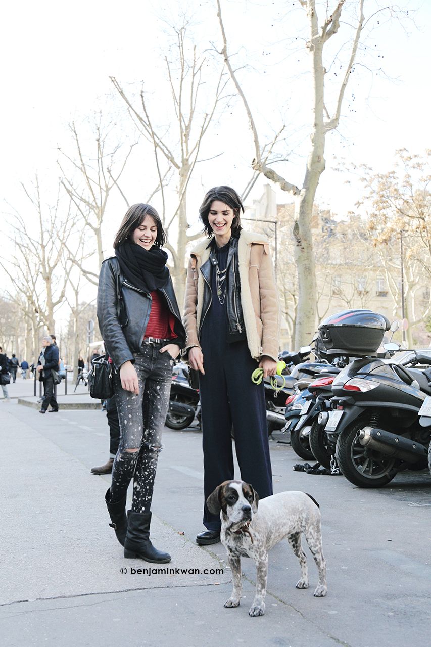 Marta Dyks, Manon Leloup and Bloem at Zadig & Voltaire     FW 2014 Paris Snapped by Benjamin Kwan Paris Fashion Week