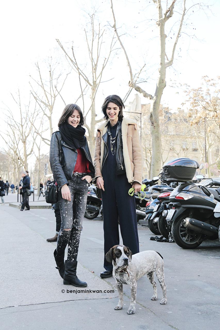 Marta Dyks, Manon Leloup and Bloem at Zadig & Voltaire FW 2014 Paris Snapped by Benjamin Kwan Paris Fashion Week