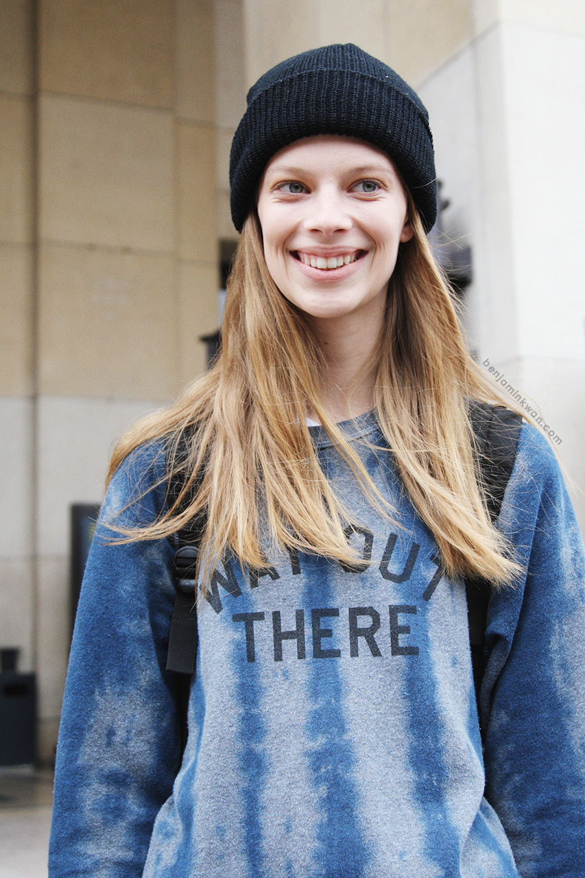 Lexi Boling at Sacai SS 2014 Paris Snapped by Benjamin Kwan Paris Fashion Week
