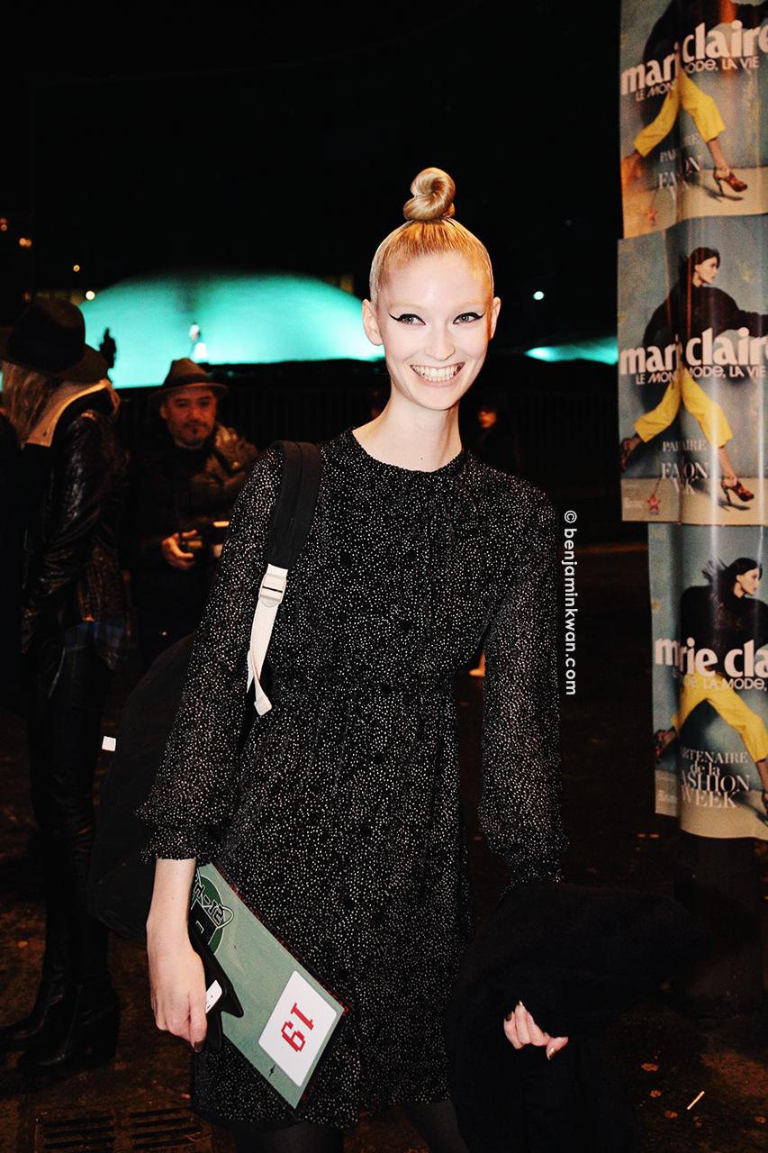 Helena Greyhorse at Jean Paul Gaultier     FW 2014 Paris Snapped by Benjamin Kwan Paris Fashion Week