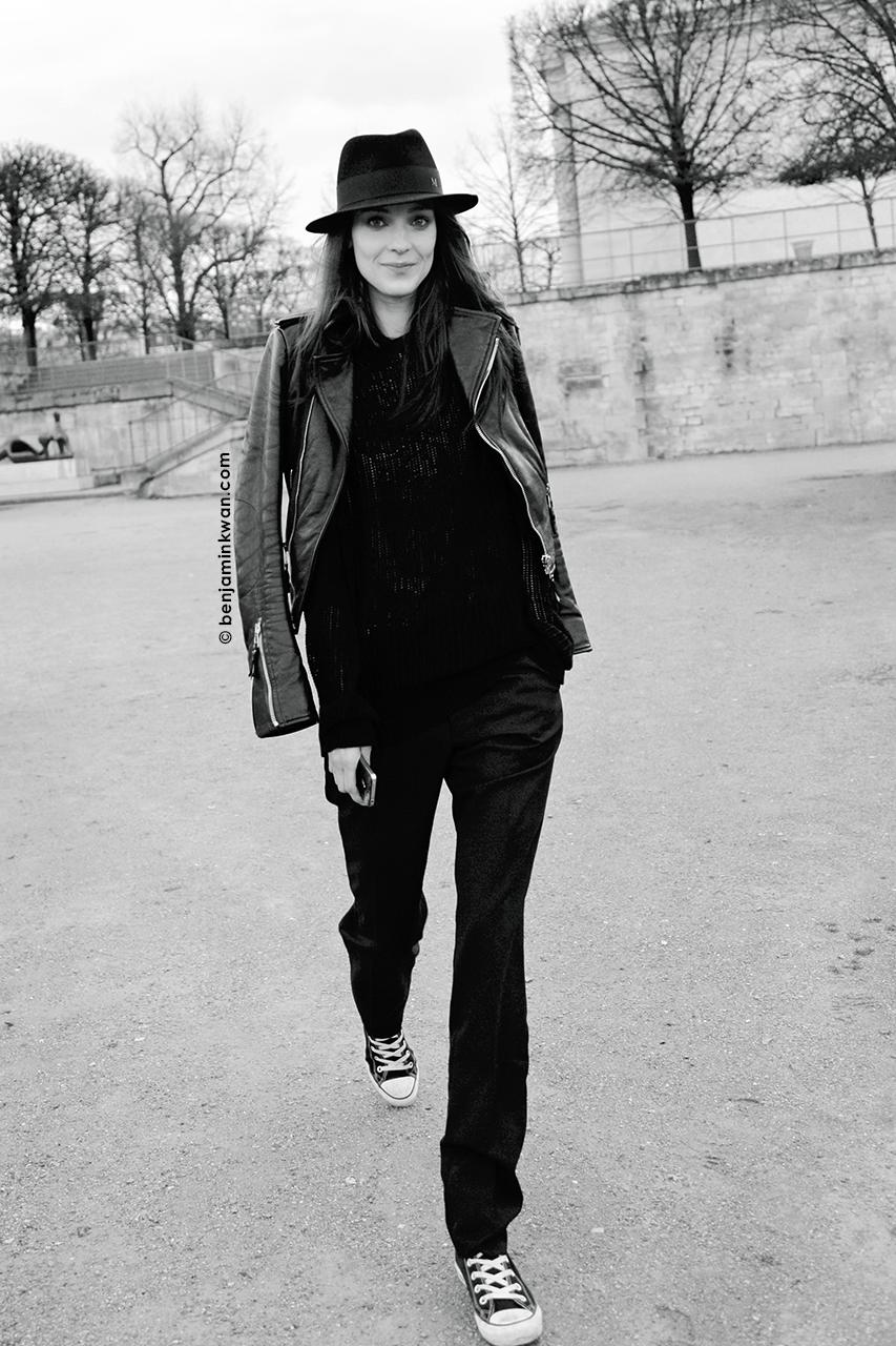 Katie Nescher at Nina Ricci     FW 2014 Paris Snapped by Benjamin Kwan Paris Fashion Week