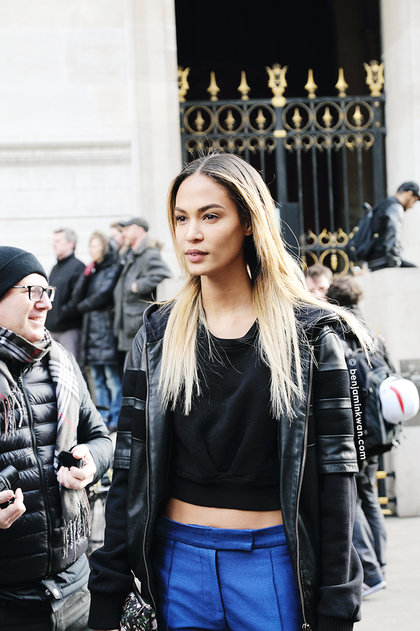 Joan Smalls at Stella McCartney FW 2014 Paris Snapped by Benjamin Kwan Paris Fashion Week