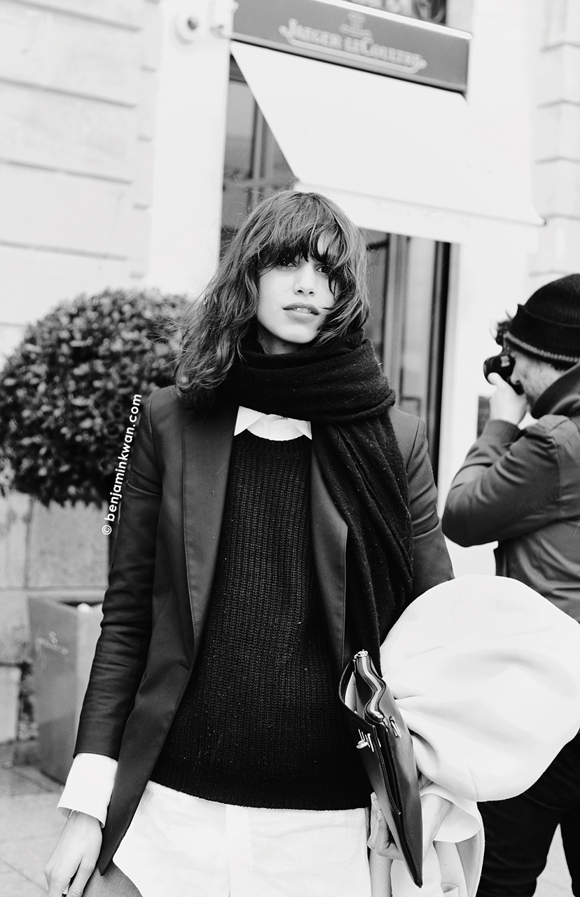 Mica Arganaraz at Emanuel Ungaro FW 2014 Paris Snapped by Benjamin Kwan Paris Fashion Week