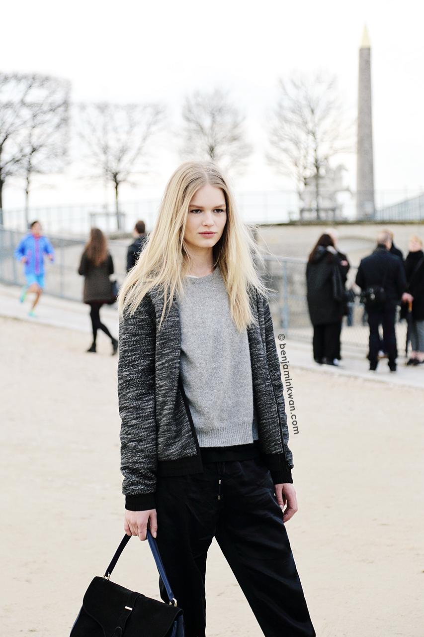 Anna Ewers at Valentino FW 2014 Paris Snapped by Benjamin Kwan Paris Fashion Week