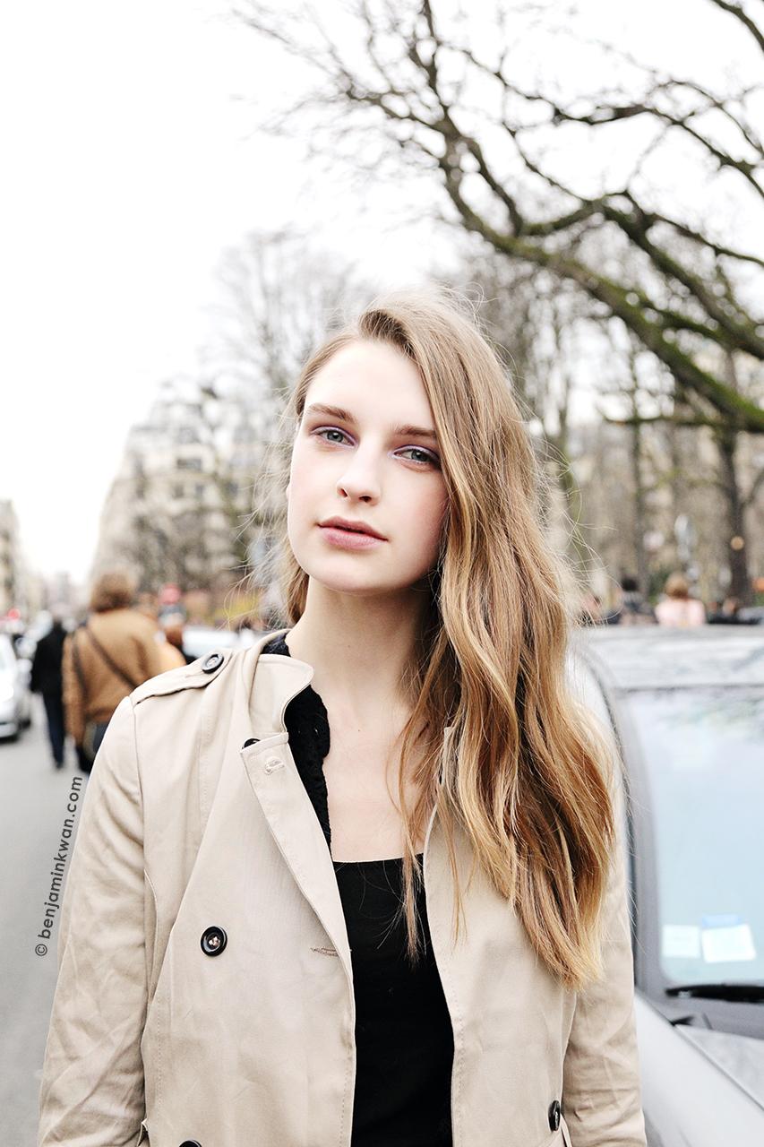 Ieva Palionyte at Chloe FW 2014 Paris Snapped by Benjamin Kwan     Paris Fashion Week