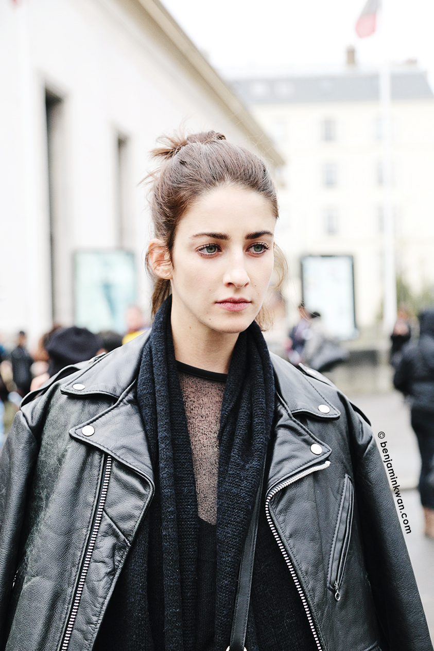 Cristina Hermann at Leonard FW 2014 Paris Snapped by Benjamin Kwan Paris Fashion Week