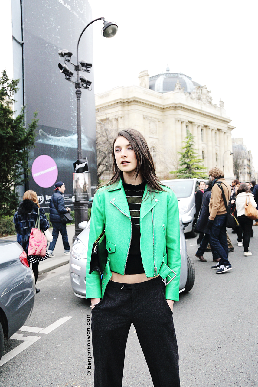 Jacquelyn Jablonski at Chloe FW 2014 Paris Snapped by Benjamin Kwan Paris Fashion Week