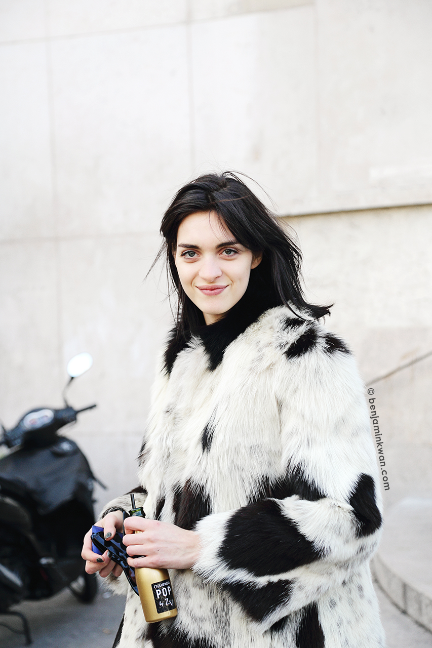 Magda Laguinge at Zadig & Voltaire     FW 2014 Paris Snapped by Benjamin Kwan Paris Fashion Week