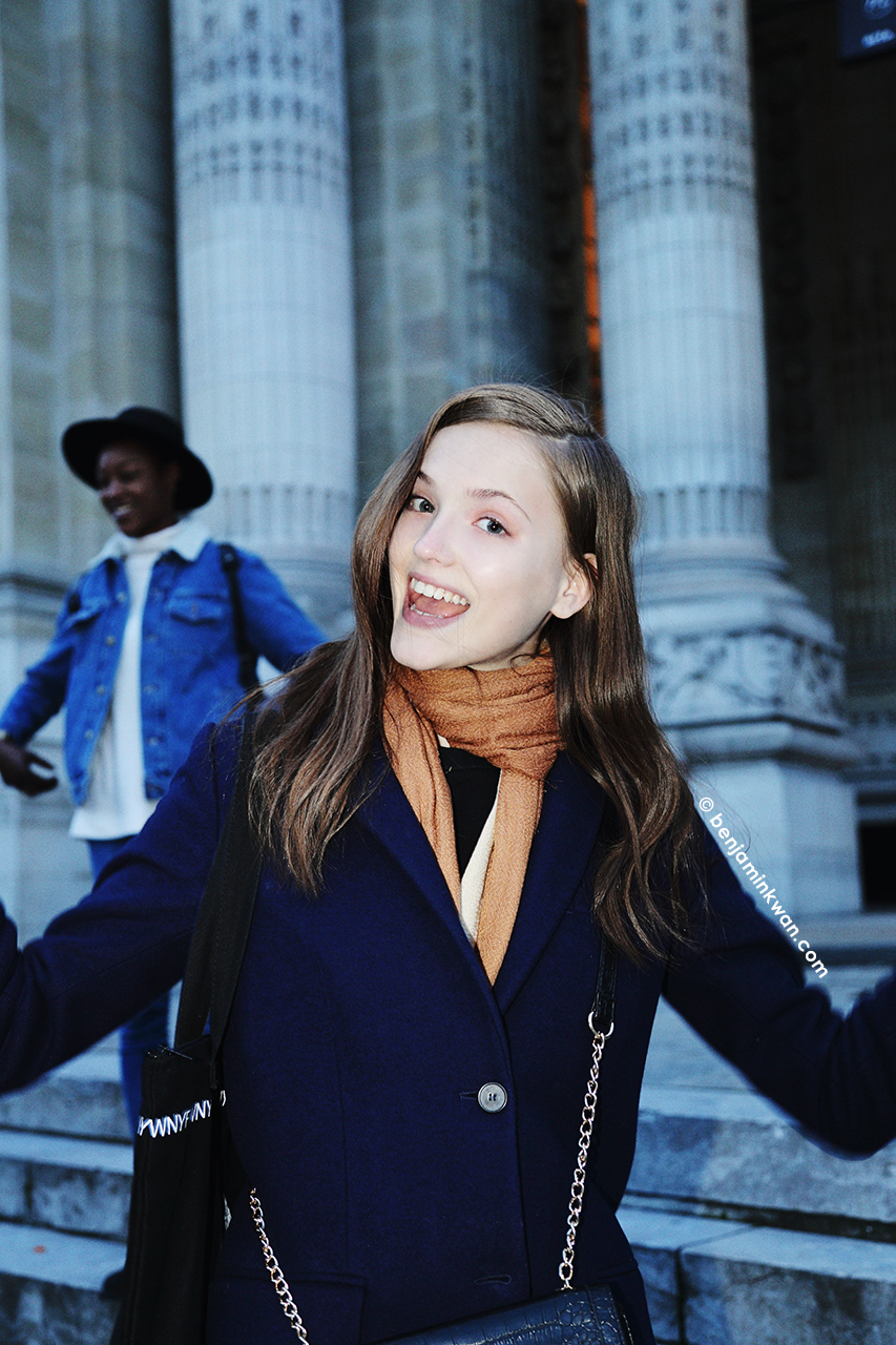 Jane Grybennikova at Shiatzy Chen FW 2014 Paris Snapped by Benjamin Kwan Paris Fashion Week
