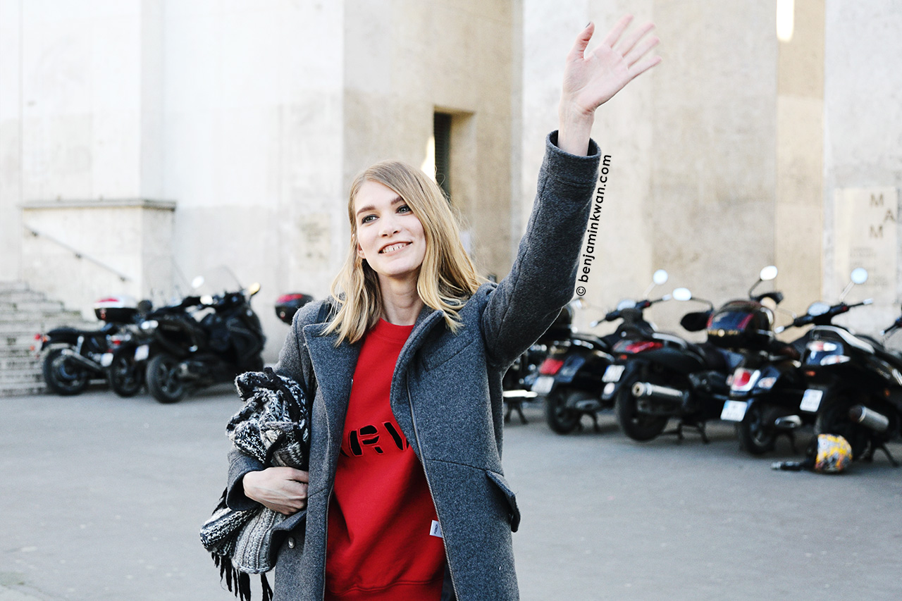 Irina Nikolaeva at Zadig & Voltaire FW 2014 Paris Snapped by Benjamin Kwan Paris Fashion Week