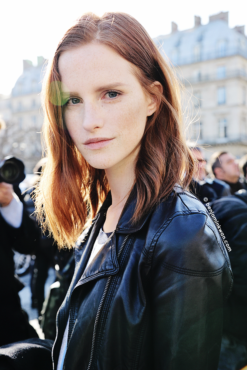Magdalena Jasek at Louis Vuitton     FW 2014 Paris Snapped by Benjamin Kwan Paris Fashion Week