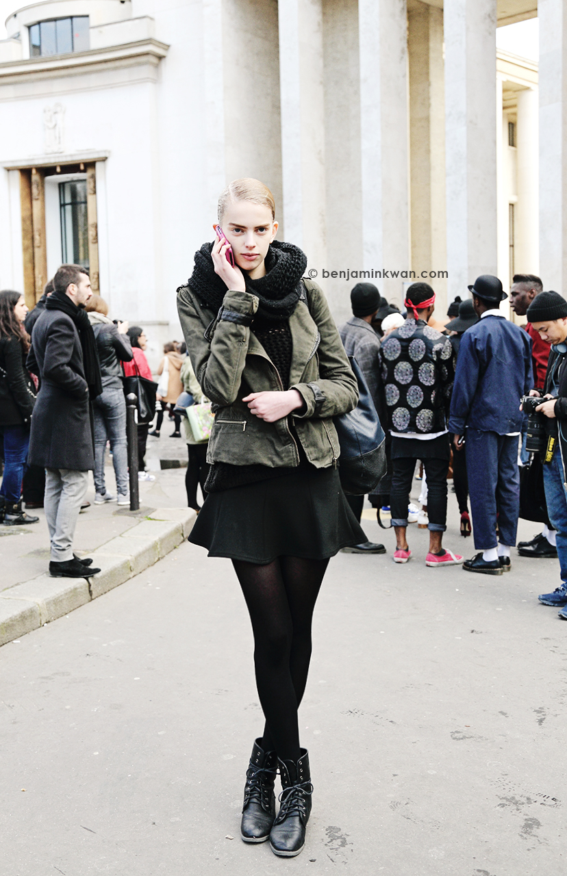 Jitte Oerlemans   at Acne Studios     FW 2014 Paris Snapped by Benjamin Kwan     Paris Fashion Week