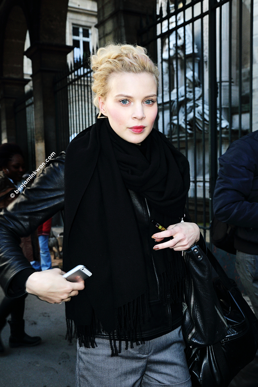 Kriss Evtikhievea at at Vivienne Westwood     FW 2014 Paris Snapped by Benjamin Kwan     Paris Fashion Week