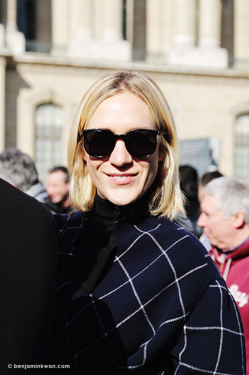 Chloe Sevigny at Louis Vuitton FW 2014 Paris Snapped by Benjamin Kwan Paris Fashion Week