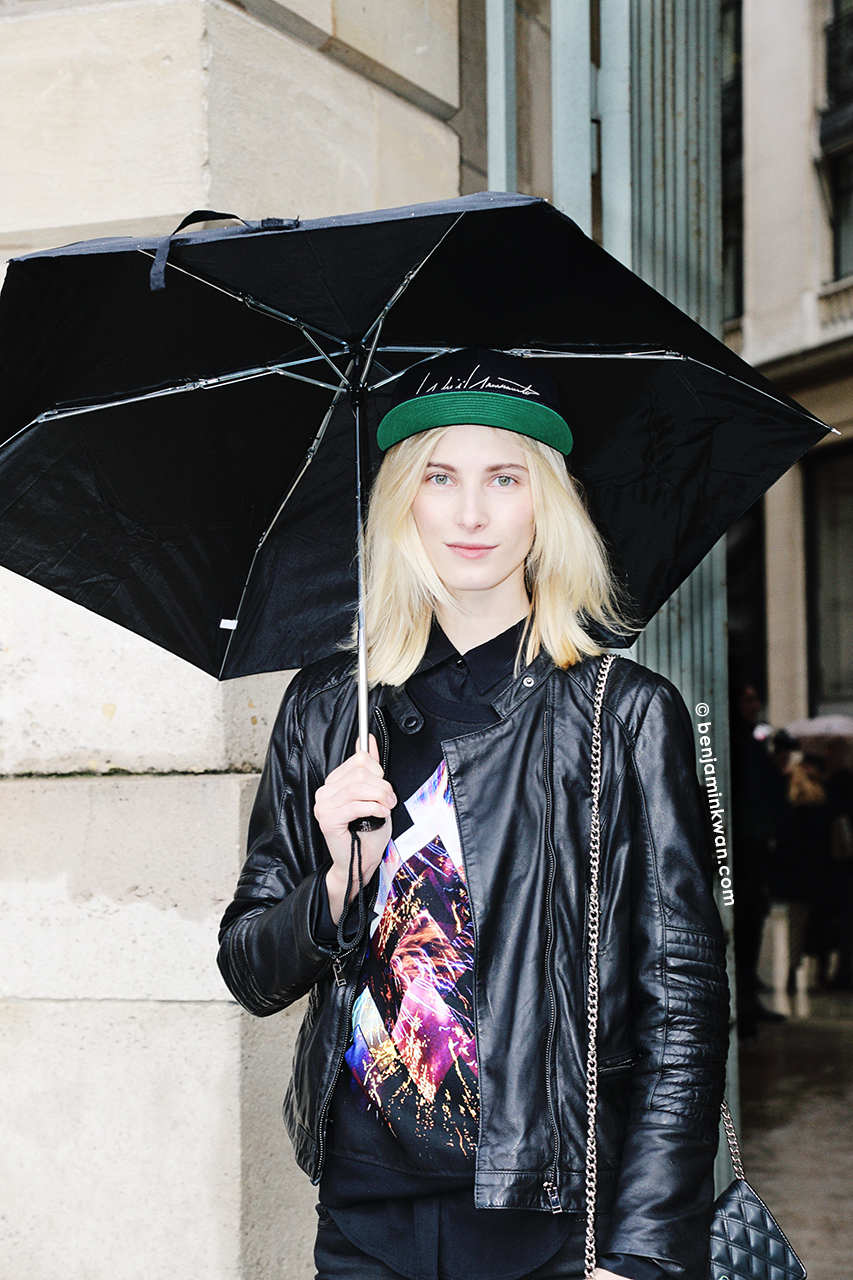 Martyna Budna at Emanuel Ungaro FW 2014 Paris Snapped by Benjamin Kwan     Paris Fashion Week