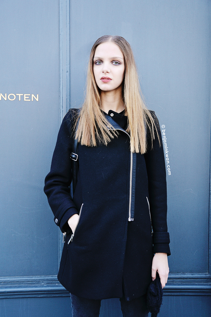 Klaudia Luczak at Andrew Gn FW 2014 Paris Snapped by Benjamin Kwan     Paris Fashion Week