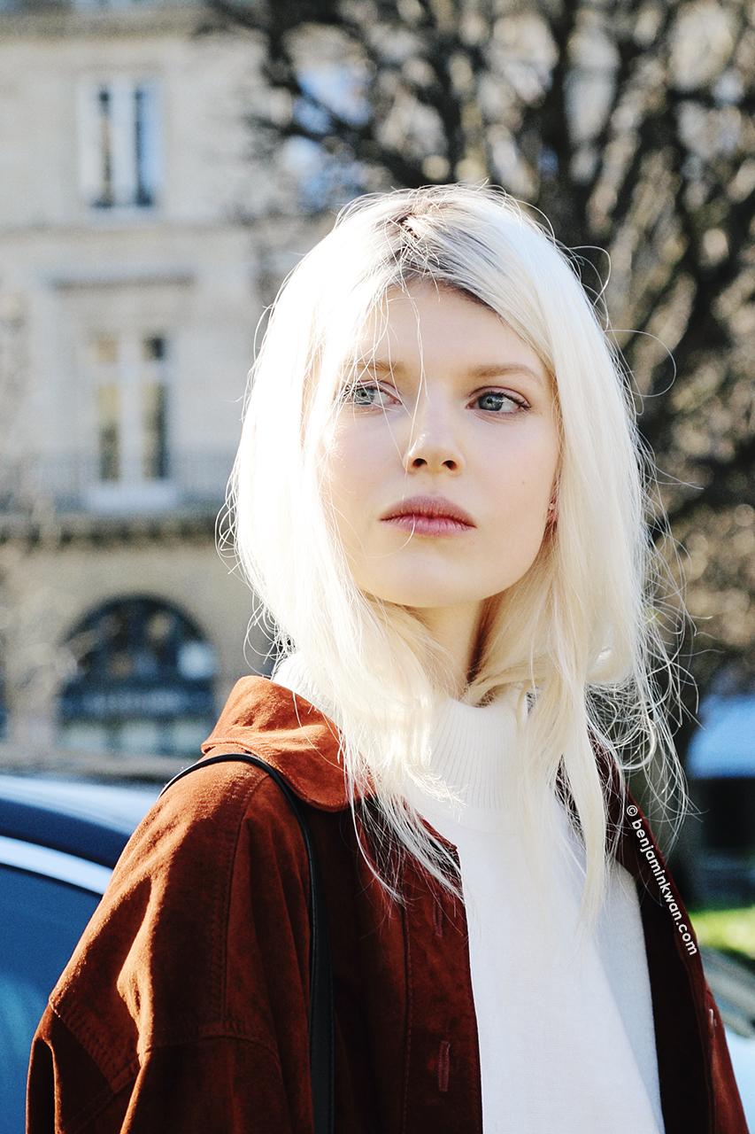 Ola Rudnicka at Louis Vuitton FW 2014 Paris Snapped by Benjamin Kwan     Paris Fashion Week