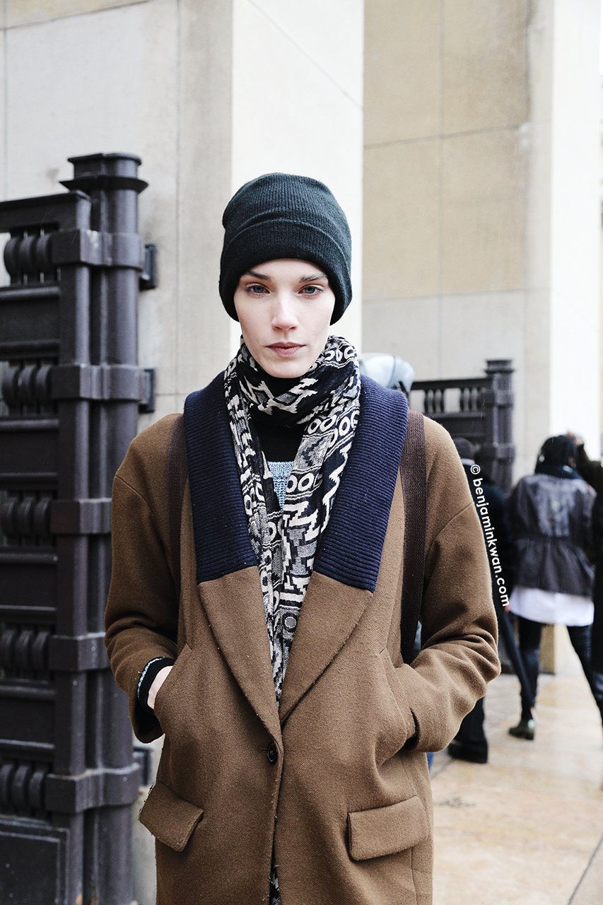 Megan Thompson at Haider Ackermann FW 2014 Paris Snapped by Benjamin Kwan     Paris Fashion Week