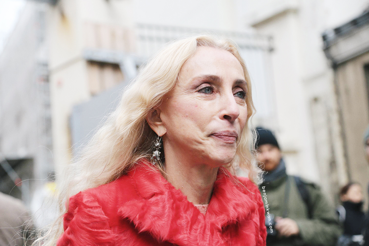 Franca Sozzani at Stella McCartney FW 2014 Paris Snapped by Benjamin Kwan     Paris Fashion Week