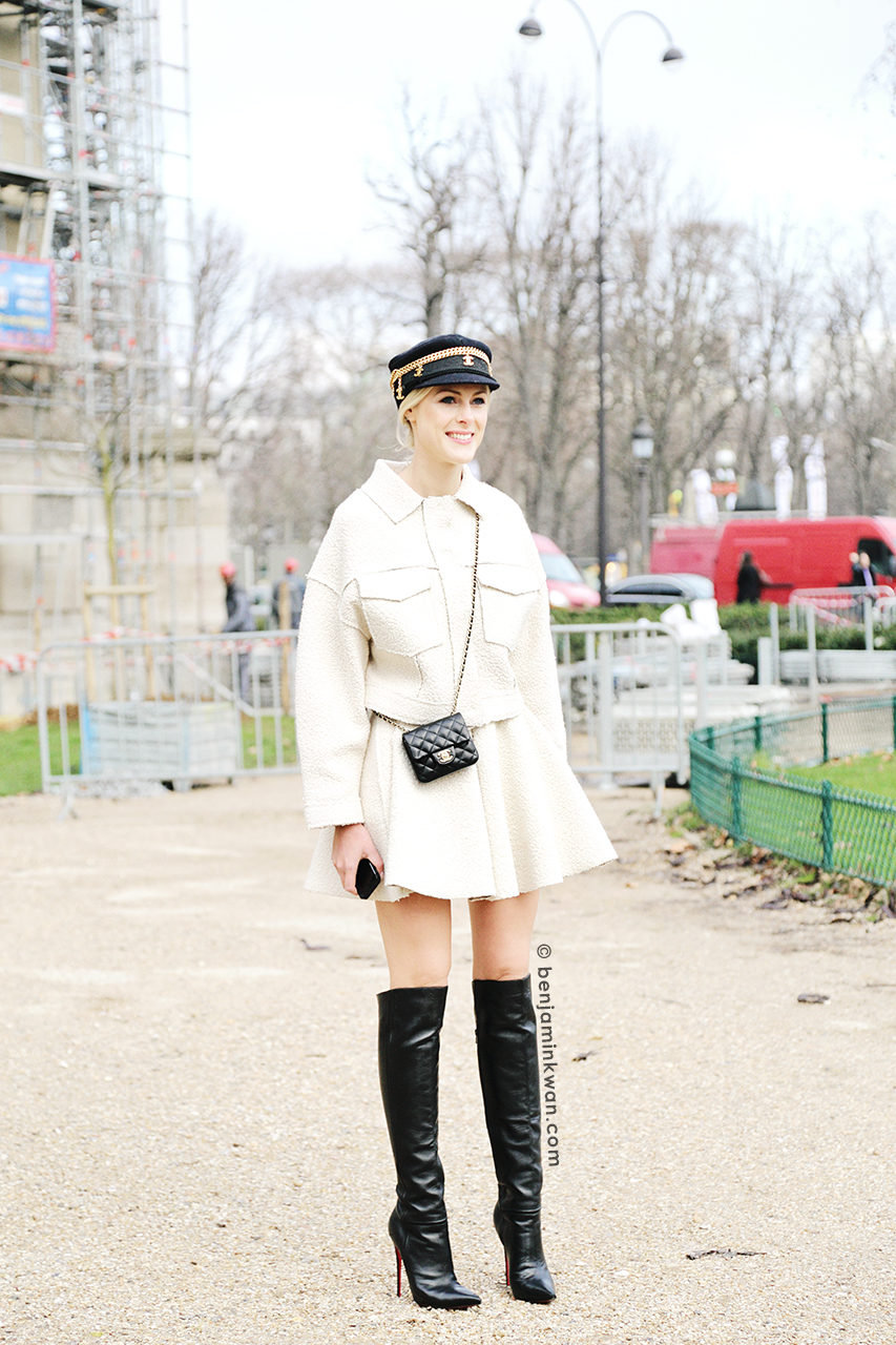 Sofie Valkiers at Chanel FW 2014 Paris Snapped by Benjamin Kwan Paris Fashion Week